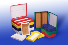 25-place slide box, cork lining